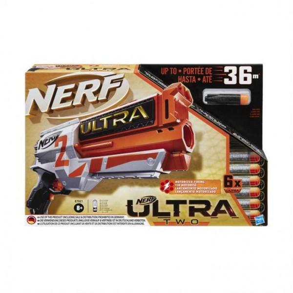 Hasbro Nerf Ultra - Two Blaster Motorizzato, Retrocarica Rapida, 6 Dardi Nerf Ultra, Compatibile Solo Con I Dardi Nerf Ultra