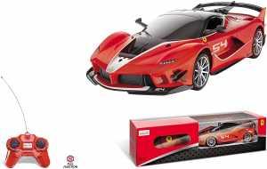 Mondo Motors - Macchina Radiocomandata Ferrari R/C - Modello FXX K EVO  In Scala 1/24- Auto Gioco Per Bambino - Rossa - 63605