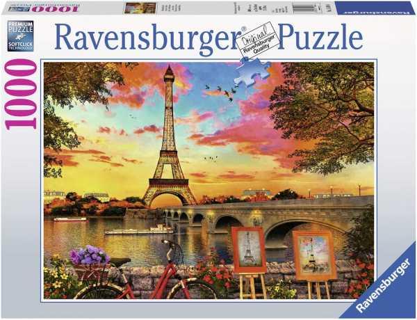 Ravensburger-15168 Ravensburger-Puzzle Le Banche Della Senna, 1000 Pezzi, Multicolore, 15168