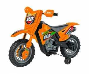Globo - Passeggino Elettrico In B/o Motocross, Arancione 6 V (39357), Colore (1)