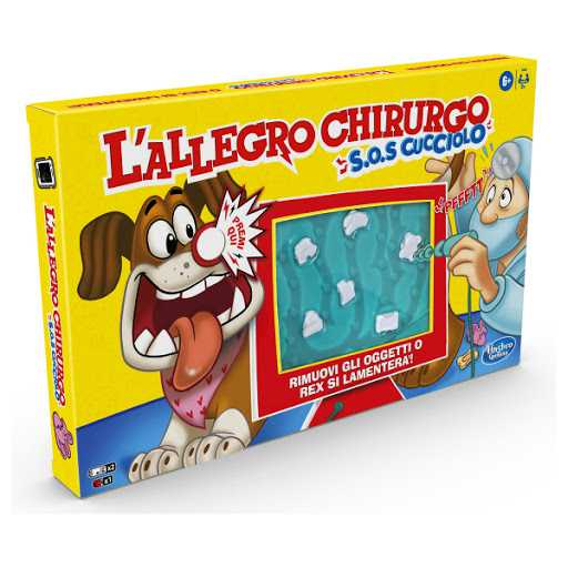 Hasbro Gaming - L'Allegro Chirurgo S.O.S. Cucciolo (Gioco In Scatola Con Suoni)