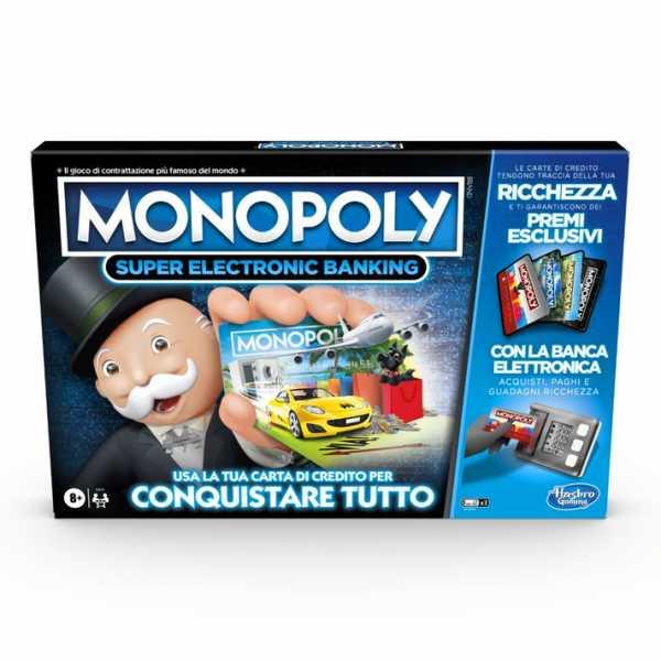 Monopoly Super Electronic Banking (gioco In Scatola Con Lettore Elettronico Hasbro Gaming, Versione In Italiano).