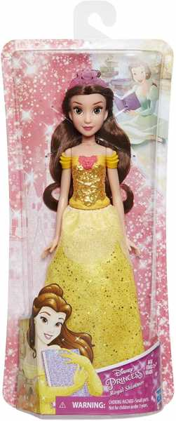 Disney Princess- Shimmer Belle Bambola, Multicolore, E4159ES2