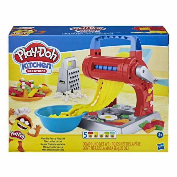 Play-Doh - Set Per La Pasta (Playset Kitchen Creations Con 5 Vasetti Di Pasta Da Modellare Play-Doh)