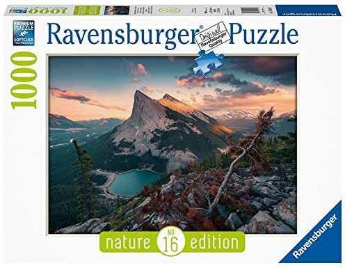 Ravensburger Puzzle- Tramonto In Montagna Puzzle Da Adulti, Multicolore, 1000 Pezzi, 15011