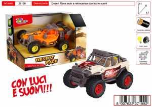 AUTO JEEP DESERTO LUCI SUONI BATTERIA CM 30 - Toys Garden (27199)