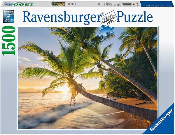 Ravensburger- Spiaggia Segreta Puzzle Da Adulti, Multicolore, 1500 Pezzi, 15015