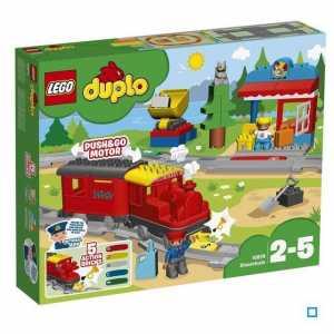 LEGO - DUPLO Treno A Vapore, Con Locomotiva Push And Go E 5 Mattoncini Multifunzione, Set Di Costruzioni Per Bambini Dai 2 Ai 5 Anni, 10874