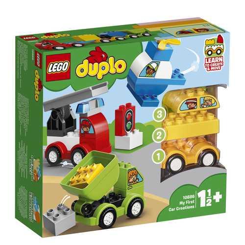 LEGO Duplo My First, I Miei Primi Veicoli Set Di Costruzioni Per Giocare E Costruire Tanti Veicoli Ed Ispirare Tante Storie Per I Bambini Da 1.5 Anni In Su, 10886