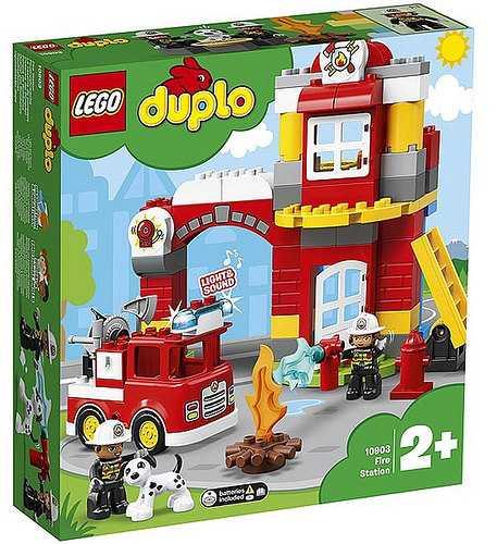 LEGO Duplo Caserma Dei Pompieri Con Luci E Sirena, Idea Regalo Per Bambini Dai 2 Anni Per Diventare Un Piccolo Eroe Ed Aiutare I Pompieri Nelle Loro Missioni, Set Di Costruzioni, 10903