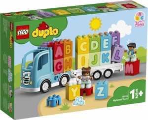 LEGO - DUPLO My First Camion Dell'Alfabeto, Con 2 Personaggi Ed Un Orsetto, Gioco E Idea Regalo Per Bambini +1 Anno E Mezzo, 10915