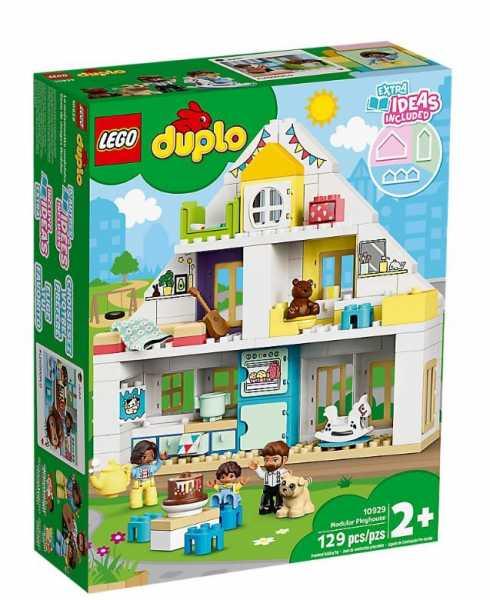 LEGO Duplo Town Casa Da Gioco Modulare Per Costruire Con Mattoncini Speciali E Sperimentare Sensazioni Tattili, Set Di Costruzioni Per Bambini +2 Anni, 10929