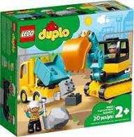 LEGO DUPLOSet Da Costruzione Camion E Scavatrice Cingolata Per Bambini Dai 2 Anni In Poi, 10931