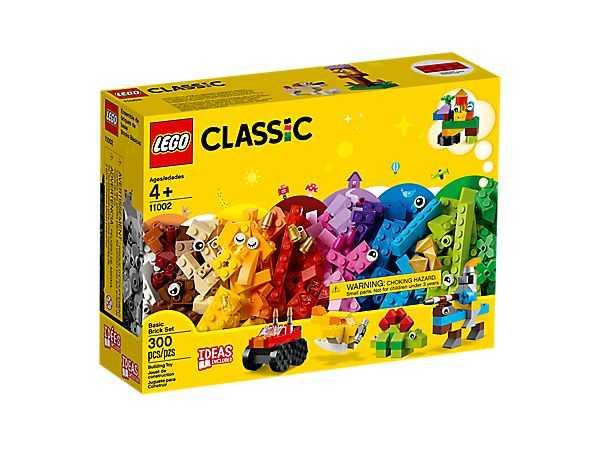 LEGO 11002 Set Di Mattoncini Di Base, 300 Pezzi Per Creare E Dar Vita Alla Tua Fantasia, Fai Partire La Tua Immaginazione Con 3 Livelli Di Complessità; Idea Regalo Per Bambini Dai 4 Anni