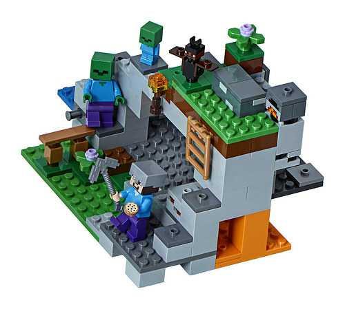 LEGO-Minecraft La Caverna Dello Zombie, Multicolore, 21141