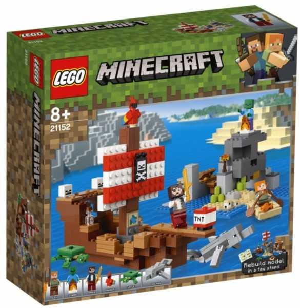LEGO Minecraft - Avventura Sul Galeone Dei Pirati, 21152