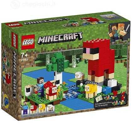 LEGO- Minecraft Game Fattoria Della Lana Giocattolo, Multicolore, 21153