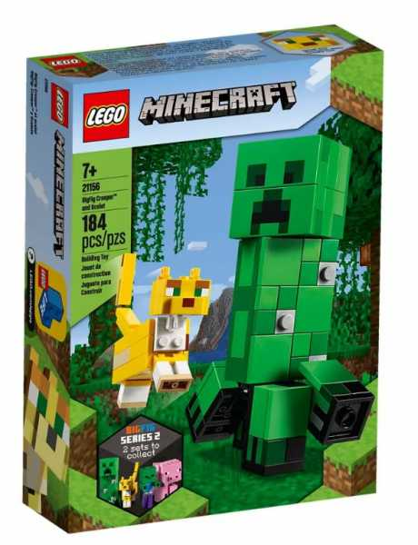 LEGO Minecraft Maxi-figure Creeper E Gattopardo, Figure Snodabili Per Una Esperienza Di Gioco Unica, Set Di Costruzioni Per Bambini +7 Anni, Appassionati E Collezionisti, 21156