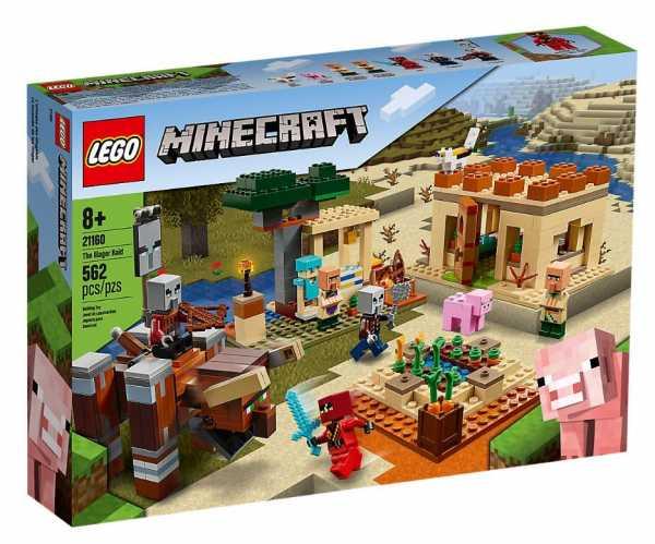 LEGO Minecraft L'Incursione Della Bestia, Set Di Costruzioni Ricco Di Dettagli Per Ragazzi 8+ Anni, Il Misterioso Personaggio Di Kai Arriva A Salvare Gli Abitanti Del Villaggio, 21160