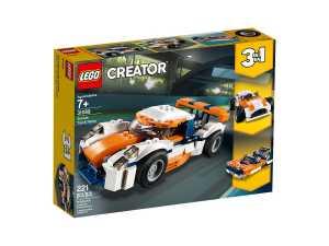 LEGO Creator 31089 Auto Da Corsa, Set Di Costruzione 3 In 1 Per Costruire L'auto Da Corsa, L'auto Classica E Un Motoscafo, Idea Regalo Per Ragazzi Dai 7 Anni
