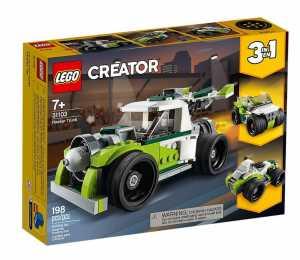 LEGO Creator - 3 In 1 Razzo-Bolide, Fuoristrada O Quod Per Una Esperienza Di Gioco Infinita, Set Di Costruzioni Per Bambini +7 Anni, 31103