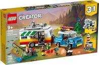 LEGOCreator3 In 1Set Vacanze In Roulotte Con Automobile, Camper, Faro, Giocattolo Da Costruzione Per L'estate, 31108