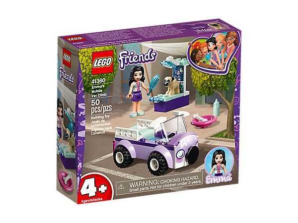 LEGO- Friends La Clinica Veterinaria Mobile Di Emma, Colore Vari, 41360