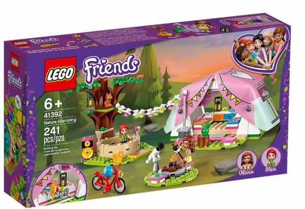 LEGO Friends, Il Glamping Nella Natura, Parti Con Mia E Olivia Per Questa Esperienza Di Lusso Nei Boschi, Set Di Costruzioni Per Bambine +6 Anni Ricco Di Dettagli, 41392