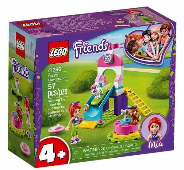LEGO Friends-Il Parco Giochi Dei Cuccioli Set Di Costruzioni Con La Mini-Doll, 2 Fiocchi, 1 Spazzola, Occhiali Da Sole, 1 Biscotto Per Cani E 1 Osso, Per Bambine +4 Anni, 41396