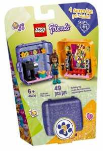 LEGO Friends Il Cubo Dell'Amicizia Di Andrea Playset Collezionabile Per Creare Mille Avventure, Ogni Cubo Contiene 1 Sorpresa Segreta- Aprilo Per Scoprire Quale, 41400