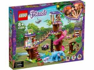 LEGO 41424 Friends Set Base Di Soccorso Tropicale Con Clinica Veterinaria Sull'albero