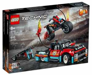 LEGO Technic Truck E Moto Dello Stunt Show, Con Azione