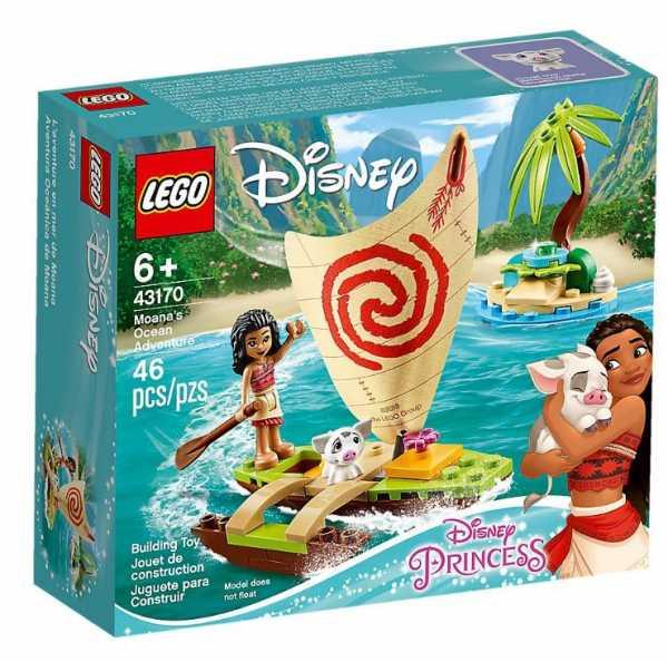 LEGO Disney Princess - L'Avventura Sull'Oceano Di Vaiana, Con Mini-Doll Di Vaiana Ed Il Maialino Pua, Set Di Costruzioni Per Bambini +6 Anni, 43170