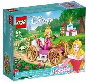LEGO Disney Princess-La Carrozza Reale Di Aurora Disney Princess Set Di Costruzioni Ricco Di Dettagli Con La Bella Minidoll Della Principessa E La Sua Amata Civetta, Per Bambini +5 Anni, 43173