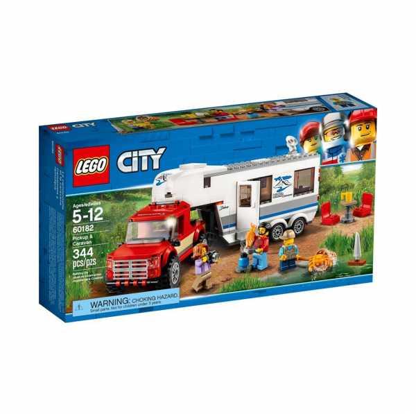 Lego City Great Vehicles Pickup E Caravan,, 60182