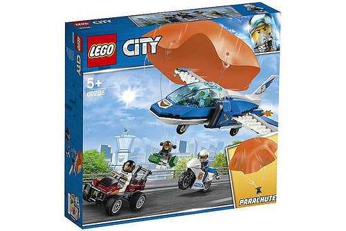 Lego City Arresto Con Il Paracadute Della Polizia Aerea Gioco Per Bambini, Colore Vari, 60208
