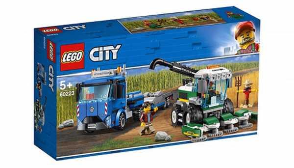 Lego City Trasportatore Di Mietitrebbia Accessori Gioco Per Bambini, Colore Vari, 60223