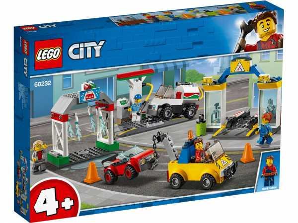 LEGO City Town - Gioco Per Bambini Stazione Di Servizio E Officina, Multicolore, 6251756