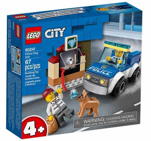 LEGO City Police- Unità Cinofila Della Polizia Set Di Costruzioni Ricco Di Dettagli Con Minifigure Dell'Agente E Del Ladro, Per Bambini +4 Anni, 60241