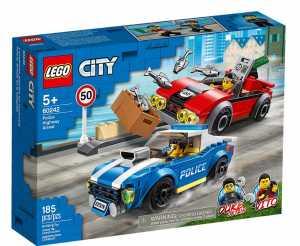 LEGO City Police Arresto Su Strada Della Polizia Set Di Costruzione Ricco Di Dettagli Con Le Minifigure Del Tenente Duke Detain E Del Criminale Vito, Per Bambini +5 Anni, 60242