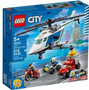 LEGO City Inseguimento Sull'Elicottero Della Polizia Set Di Costruzioni Con Magnete Per Catturare Il Camion In Fuga E 4 Minifigures: Agente, Criminale, Sam Grizzled E Snake Rattler, +5 Anni, 60243