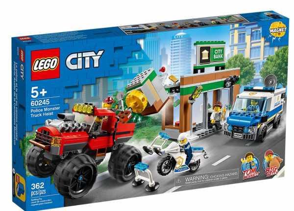 LEGO City Police Rapina Sul Monster Truck Set Di Costruzioni Ricco Di Dettagli Con 5 Minifigure, Tra Cui Tom Bennett E Big Betty, Per Bambini +5 Anni, 60245