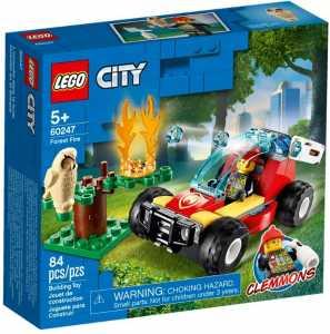 LEGO City Fire - Incendio Nella Foresta Con Minifigure Di Clemmons, Una Civetta Assonnata E Accessori Per Riprodurre Le Avventure Della Serie TV, Set Di Costruzioni Per Bambini +5 Anni, 60247