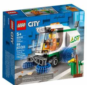 LEGO City Great Vehicles Camioncino Pulizia Strade, Con Minifigure Dell'Autista, 1 Bidone Della Spazzatura, 1 Pala, 1 Scopa E 1 Banana, Set Di Costruzioni Per Bambini +5 Anni, 60249