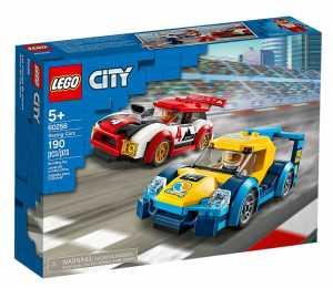 LEGO City Turbo Wheels - Auto Da Corsa Per Costruire 2 Veicoli E 2 Minifigure, Set Di Costruzioni Per Bambini +5 Anni, 60256