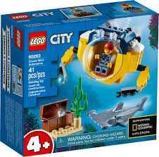 LEGO 60263 City Minisottomarino Oceanico, Avventure Acquatiche Per I Bambini Dai 4 Anni In Poi