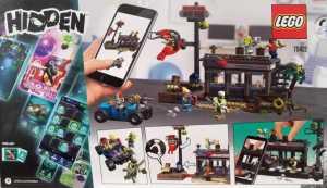 LEGO- Hidden Side Attacco Alla Capanna Dei Gamberetti, Set Di Costruzione Per La Realtà Aumentata, Compatibile IPhone/Android, Multicolore, 70422