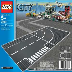 Lego - 7281 - City Supplementary - Incrocio A T E Curva