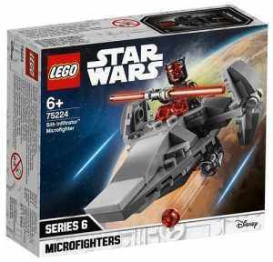 Lego Star Wars Micorfighter Sith Infiltrator Gioco Per Bambini, Colore Vari, 75224