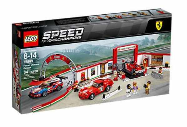 Lego Speed Garage Ferrari, 75889, Modelli/Colori Assortiti, 1 Pezzo